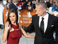 """<p>Jennifer Connelly and husband Paul Bettany arrive for the gala presentation for the film 'Creation"""" at the Toronto International Film Festival, September 10, 2009. REUTERS/Mike Cassese</p>"""