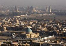 <p>An aerial view of Baghdad January 4, 2008. REUTERS/Mahmoud Raouf Mahmoud</p>