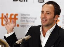 """<p>Director Tom Ford gestures during a news conference for the film """"A Single Man"""" at the 34th Toronto International Film Festival in Toronto September 15, 2009. REUTERS/Mike Cassese</p>"""