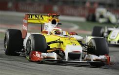 <p>La monoposto di Fernando Alonso. REUTERS/Joachim Herrmann</p>
