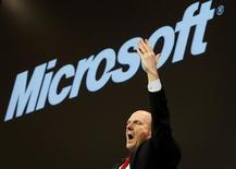 <p>L'amministratore delegato di Microsoft Steve Ballmer. REUTERS/Christian Charisius</p>