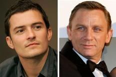 """<p>In this combination photo, Actor Orlando Bloom (L) attends a meeting with city officials in Sarajevo August 12, 2008, and British actor Daniel Craig waves to Japanese fans as he arrives at the Japanese premiere for his latest James Bond movie """"Quantum of Solace"""" in Tokyo November 25, 2008. REUTERS/Damir Sagolj/Issei Kato</p>"""