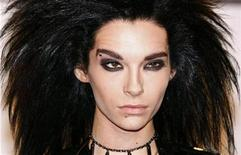 <p>Bill Kaulitz of German group Tokio Hotel poses on the red carpet before the MTV Europe Music Awards ceremony in Liverpool, northern England, November 6, 2008. REUTERS/Phil Noble</p>