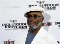 """<p>Actor Samuel L. Jackson poses at the premiere of """"Inglourious Basterds"""" at Grauman's Chinese theatre in Hollywood, California August 10, 2009. REUTERS/Mario Anzuoni</p>"""