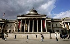 <p>The National Gallery is seen in London's Trafalgar Square March 21, 2007. REUTERS/Alessia Pierdomenico</p>