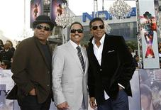 """<p>Tito (L), Marlon (C) and Jackie Jackson pose at the premiere of the documentary """"This Is It"""" in Los Angeles October 27, 2009. The documentary includes interviews, rehearsals and backstage footage of Michael Jackson as he prepared for his shows in London and opens in the U.S. on October 28. REUTERS/Mario Anzuoni</p>"""