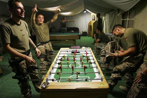 Soldiers off duty