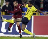 <p>Lance do jogo entre o Barcelona e o Rubin Kazan, que terminou em 0 x 0. REUTERS/Grigory Dukor</p>