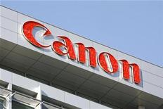 <p>Foto de archivo de la sede central de la compañía Canon en Tokio, ene 14 2009. La japonesa Canon planea comprar al fabricante holandés de copiadoras e impresoras Oce por 730 millones de euros (1.090 millones de dólares) en un intento por volver a crecer, luego de la recesión mundial y para competir con su rival Ricoh. REUTERS/Stringer</p>