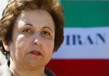 <p>Il premio Nobel per la pace del 2003 Shirin Ebadi. REUTERS/Yves Herman</p>