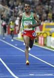 <p>Kenenisa Bekele of Ethiopia runs to the finish line winning the men's 10,000 meters final during the world athletics championships at the Olympic stadium in Berlin, August 17, 2009. REUTERS/Michael Dalder</p>