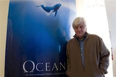 "<p>French producer and director Jacques Perrin poses during an interview about his film ""Oceans"" in Paris December 5, 2009. REUTERS/Gonzalo Fuentes</p>"