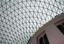 <p>The glass and steel roof of the Great Court of the British Museum is seen in London March 8, 2008. Opened in December 2000, the Great Court of the British Museum is the largest covered public square in Europe. REUTERS/John Goh</p>