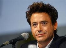 """<p>Actor Robert Downey Jr looks out at the crowd during a question and answer session following a short presentation of """"Iron Man 2"""" at the annual Comic Con conference in San Diego, California July 25, 2009. REUTERS/Mike Blake</p>"""
