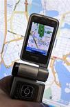 <p>Um celular Nokia N93i com mapa é mostrato em Helsinque. A Nokia, maior fabricante mundial de celulares, abriu outro processo contra a Apple por alegadas violações de patentes, numa disputa legal cada vez mais acirrada entre as duas líderes do mercado de telefones inteligentes (smartphones).13/10/2009.LEHTIKUVA/Kimmo Mantyla</p>