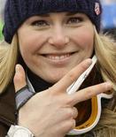 <p>La sciatrice americana Lindsey Vonn. REUTERS/Leonhard Foeger</p>