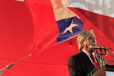<p>Себастьян Пинера выступает с речью в Сантьяго после победы во втором туре президентских выборов в Чили 17 января 2010 года. Миллиардер-консерватор Себастьян Пинера в воскресенье стал победителем второго тура президентских выборов в Чили, тем самым положив конец 20-летнему правлению левоцентристов в стране, которая является крупнейшим в мире добытчиком меди и может похвастаться самой стабильной экономикой в Латинской Америке. REUTERS/Victor Ruiz Caballero</p>