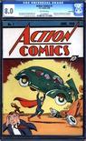 <p>Uma cópia da primeira edição da revista do Super-Homem nesta foto de publicidade divulgada à Reuters em 22 de fevereiro de 2010. O raríssimo exemplar, publicada em junho de 1938, foi vendido pelo valor recorde de 1 milhão de dólares pelo site ComicConnect.com. REUTERS/ComicConnect.com/Divulgação</p>