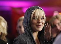 <p>Atriz Lindsay Lohan, em foto de arquivo, disse que espera se reconciliar com a DJ Samantha Ronson. REUTERS/Mario Anzuoni</p>
