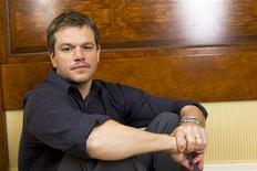 """<p>Actor Matt Damon poses for a portrait while promoting the film """"Green Zone"""" in New York February 26, 2010. REUTERS/Lucas Jackson )</p>"""