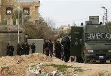 <p>Polizia egiziana in foto d'archivio. REUTERS/Asmaa Waguih</p>