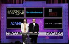<p>Actress Anne Hathaway and Academy of Motion Picture Arts and Sciences President Tom Sherak announce the nominations in the Best Foreigh Language Film category during the 82nd annual Academy Awards nominee announcements in Beverly Hills February 2, 2010. REUTERS/Danny Moloshok</p>