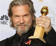 """<p>Jeff Bridges já ganhou o Globo de Ouro (foto) e o prêmio do Sindicato dos Atores da América por seu papel em """"Coração Louco"""". 17/01/2010 REUTERS/Lucy Nicholson</p>"""