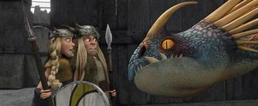 """<p>A scene from the animated 3-D family film """"How to Train Your Dragon"""". REUTERS/DreamWorks Animation</p>"""