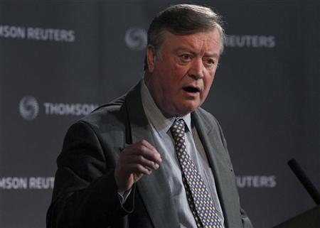 Shadow business secretary Kenneth Clarke speaks at a Reuters Newsmaker event, in London March 2, 2010. REUTERS/Andrew Winning