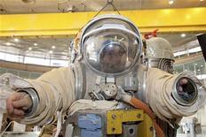 <p>Un cosmonauta durante l'addestramento REUTERS/Sergei Remezov</p>