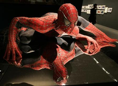 A model of Spider-Man is displayed at an exhibition ahead of the ''Spider-Man 3'' world premiere in Tokyo April 16, 2007. REUTERS/Yuriko Nakao