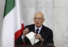 <p>Giorgio Napolitano, presidente della Repubblica, in foto d'archivio. REUTERS/Khaled al-Hariri</p>