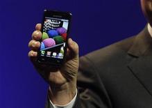 <p>Uno smartphone della Samsung. REUTERS/Steve Marcus</p>