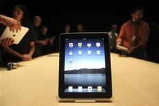 <p>Apple a fixé au 28 mai le lancement de son nouveau produit phare, l'iPad, dans neuf pays dont la France. /Photo d'archives/REUTERS/Kimberly White</p>