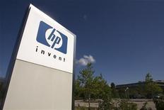 <p>Il logo di Hp in una foto d'archivio. REUTERS/Denis Balibouse (SWITZERLAND BUSINESS SCI TECH)</p>