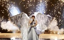 "<p>Thea Garrett from Malta performs her song ""My Dream"" during a dress rehearsal for semi-final one of the Eurovision Song Contest in Oslo May 24, 2010. REUTERS/Bob Strong</p>"