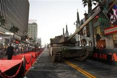 """<p>A tank is pictured at the premiere of """"The A-Team"""" at the Mann's Grauman Chinese theatre in Hollywood, California June 3, 2010. The movie opens in the U.S. on June 11. REUTERS/Mario Anzuoni</p>"""