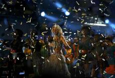 <p>Singer Shakira performs during the opening concert for the 2010 World Cup at the Orlando Stadium in Soweto, Johannesburg June 10, 2010. REUTERS/Thomas Mukoya</p>