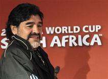 """<p>Técnico da Argentina Diego Maradona pediu """"jogo limpo"""" aos árbitros da Copa do Mundo, que começou nesta sexta-feira. REUTERS/Enrique Marcarian</p>"""