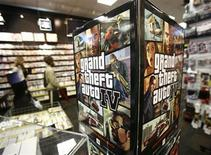 "<p>An advertisement for the ""Grand Theft Auto 4"" video game sits on display at a store in New York in this April 28, 2008 file photo. REUTERS/Shannon Stapleton</p>"
