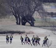 <p>Seleção brasileira durante sessão de treino em Johanesburgo. Os brasileiros realizaram nesta terça-feira seu último treino no gramado do Randpark Golf Club. 29/06/2010 REUTERS/Paulo Whitaker</p>
