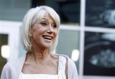 """<p>Cast member Helen Mirren smiles at the premiere of the movie """"Love Ranch"""" at the Arclight theatre in Los Angeles June 23, 2010. REUTERS/Mario Anzuoni</p>"""