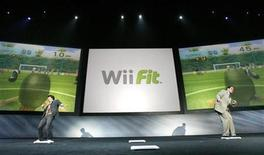 <p>Shigeru Miyamoto (L), senior managing director and general manager of Entertainment Analysis and Development Division of Nintendo Co., Ltd, plays a game of Wii Fit head ball against Nintendo of America President Reggie Fils-Aime during the E3 Media and Business Summit in Santa Monica, California July 11, 2007. REUTERS/Mario Anzuoni</p>