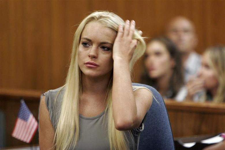 d761f68c <p>Lindsay Lohan appears in court at the Beverly Hills Municipal Courthouse  as she