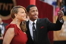 <p>Mariah Carey (L) and Nick Cannon arrive at the 16th annual Screen Actors Guild Awards in Los Angeles January 23, 2010. REUTERS/Phil McCarten</p>