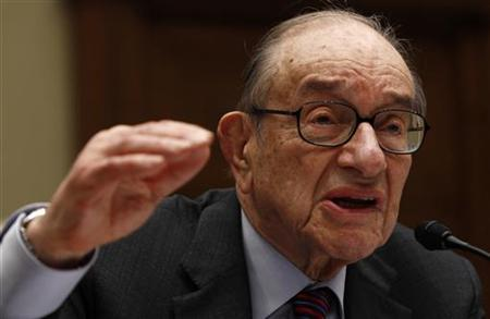 Alan Greenspan, former chairman of the Federal Reserve, testifies before the Financial Crisis Inquiry Commission hearing on Capitol Hill in Washington April 7 , 2010. REUTERS/Kevin Lamarque