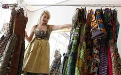 <p>File photo of model posing in a traditional Dirndl dress made of African cloth in a shop in Munich September 8, 2010. REUTERS/Michaela Rehle</p>