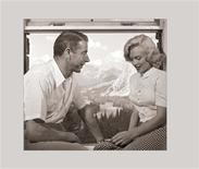 """<p>Actress Marilyn Monroe and baseball legend Joe DiMaggio are seen in this handout image from a collection of previously unpublished photos of Monroe in Alberta, Canada taken in the summer of 1953. The collection of more than 100 previously unpublished photos of Monroe can be seen for the first time in a new book """"Marilyn: August 1953."""" The book, published this week by Calla Editions, features digitally restored black and white images of a then 27-year-old Monroe. REUTERS/The Estate of John Vachon/Dover Publications, Inc/Handout</p>"""