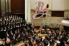 <p>La Orquesta Sinfónica y el Coro de la Filarmónica Nacional en un concierto en Varsovia. Sep 30 2010 Algunos de los pianistas jóvenes más talentosos del mundo se dirigen a Varsovia para el Concurso Internacional de Piano Frederic Chopin que comienza este fin de semana, y los asiáticos tienen especial prominencia entre ellos. REUTERS/Kacper Pempel</p>