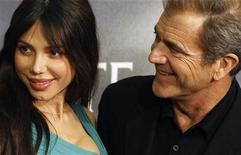 """<p>Actor Mel Gibson (R) and Oksana Grigorieva pose during the Spanish premiere of the film """"Edge of Darkness"""" in Madrid February 1, 2010. REUTERS/Juan Medina</p>"""